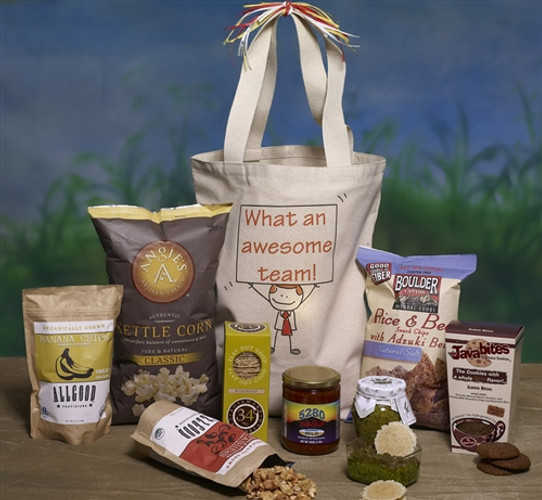 Personalized billboard gift basket