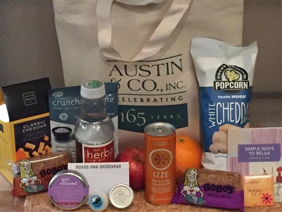 Austin Co Custom Wellness Gift Basket