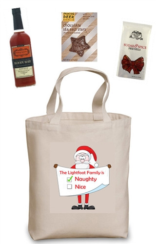 Naughty or Nice Build Your Own Gift Basket (Naughty! You personalize the bag and choose the contents)