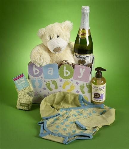 New Baby Boy Gift Basket