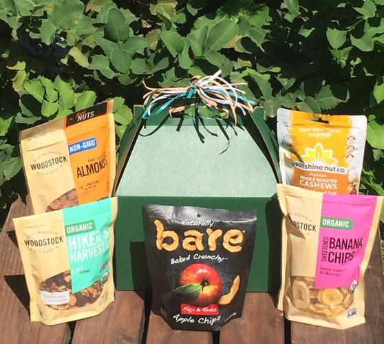 Whole Snacks gift basket