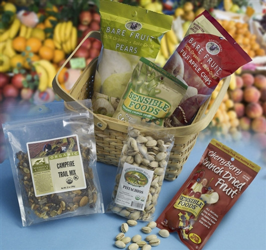 Organic Fruit and Nuts Health Gift Basket