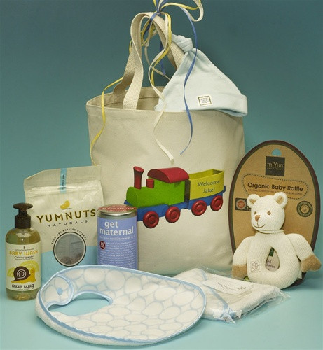 New Baby Boy Personalized Baby Gift Basket