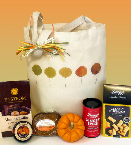 Share the tastes of the season with this all-occasion fall gift basket.