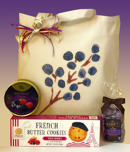 Thank you berry much gift tote basket designed to convey your sincere appreciation.