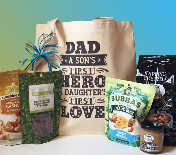 A Sons First Hero A Daughters First Love Fathers Day gift basket