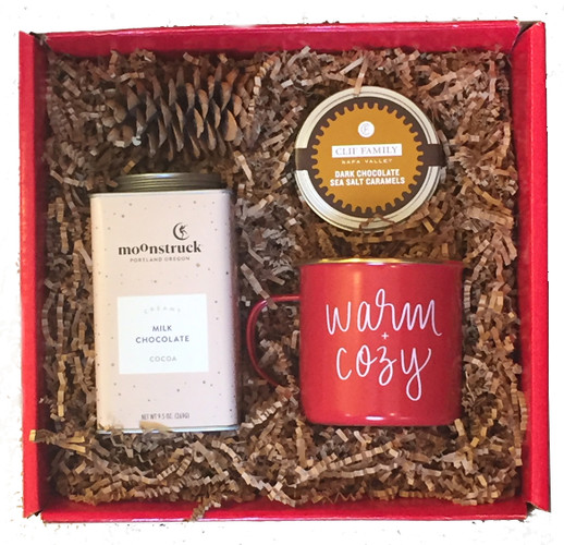 Warm and cozy holiday gift box