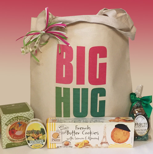 Send a BIG HUG to encourage, support and show you care.  The perfect get well or thinking of you gift basket.
