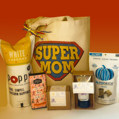 Even SuperMoms need to relax and refuel.  Show your Mother's Day appreciation with this fun gift basket designed to honor the SuperMom in your life!