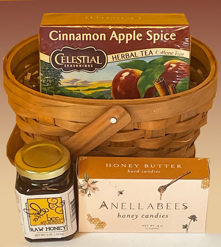 """Serve up the scents of fall with this sweet tea basket.  A great way to say """"hello!"""" along with your good wishes."""