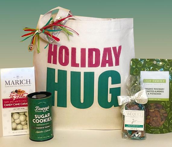 Send a big Holiday Hug, along with delicious artisan seasonal treats