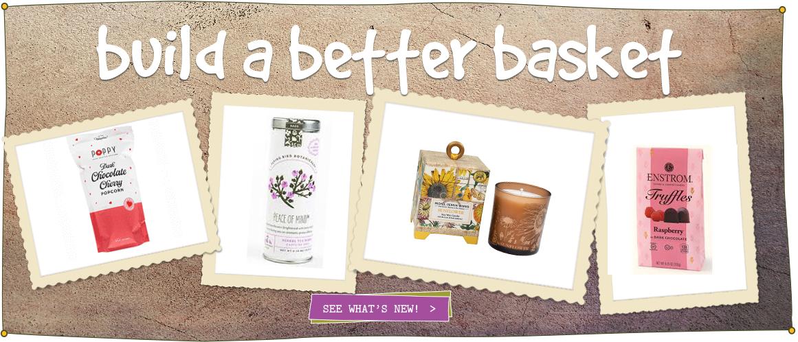 Healthy artisan gift baskets, Valentines gift baskets
