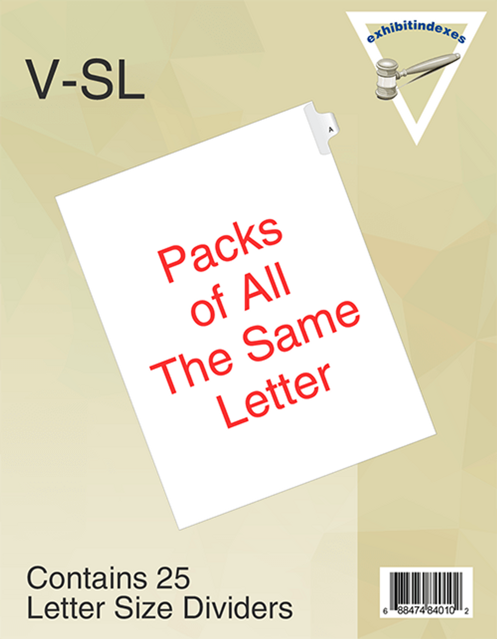 Side Letter Tabs Individual Pack Of 25
