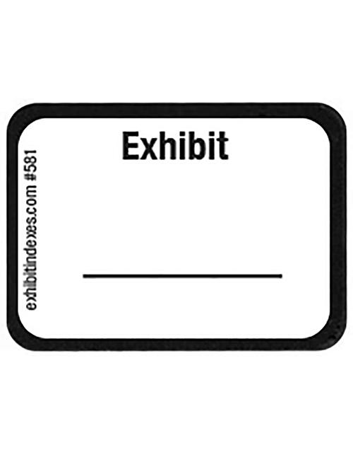 Exhibit Labels White #581