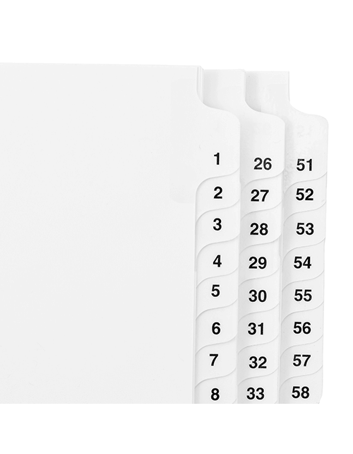 Side Collated Exhibit Tabs (Sets)