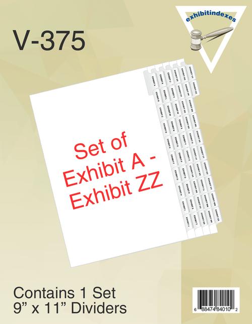 Set of Exhibit A - Exhibit ZZ