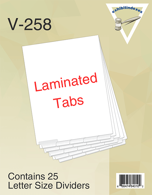 Blank Bottom Exhibit Dividers Laminated Tabs 5 Division Sets