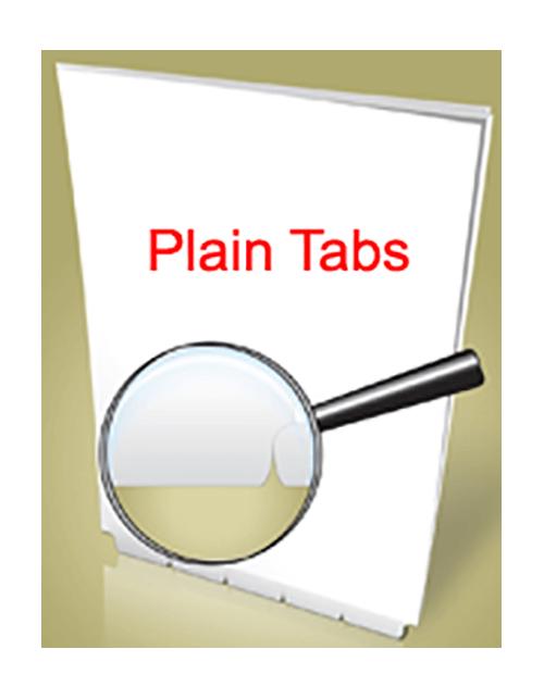 Blank Bottom Paper Tab  Position 1-5 Sets Letter Size