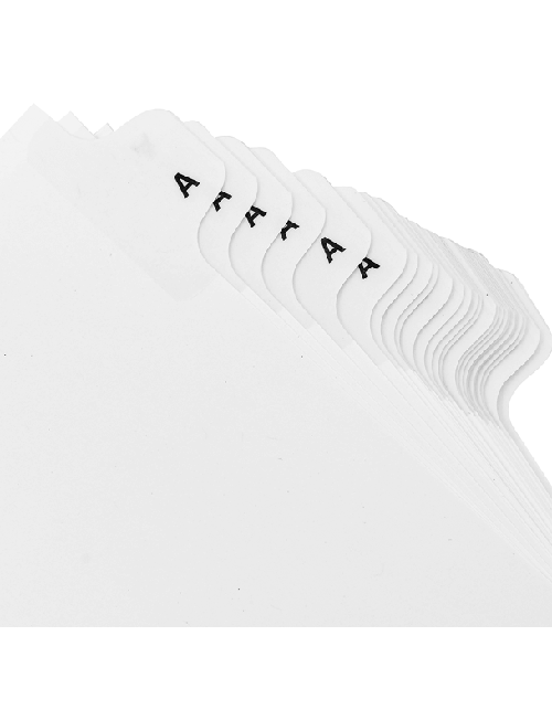 Side Letter Tabs Individual (pack of 25)