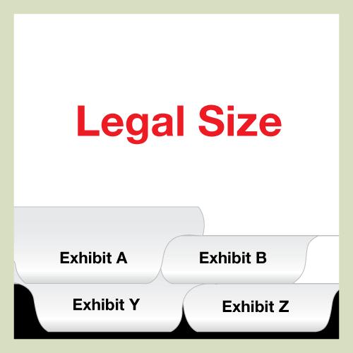 LEGAL SIZE Bottom Exhibit Set A-Z