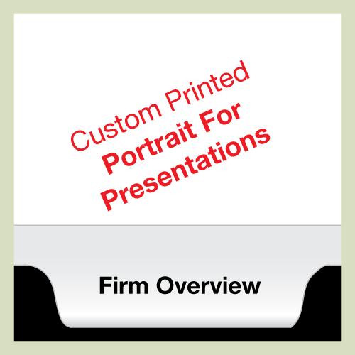 Custom Tabs Printed Landscape For Presentations