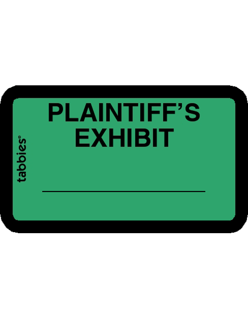 Tabbies 58025 Plaintiff's Exhibit Green