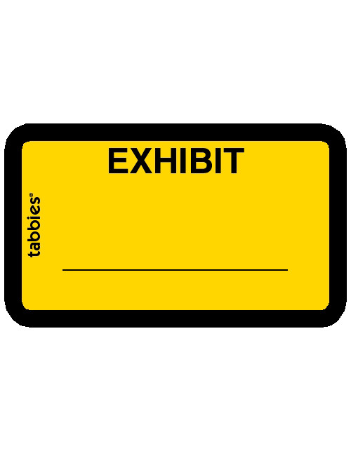 Tabbies 58090 Exhibit Yellow