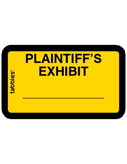 Tabbies 58094 Plaintiff's Exhibit Yellow