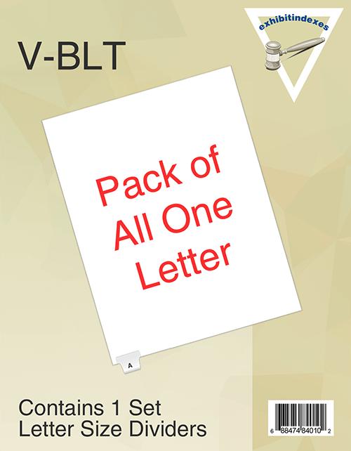 Bottom Letter Tabs