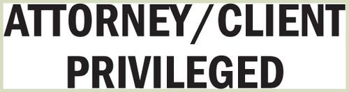 Attorney-Client Privileged Stamp