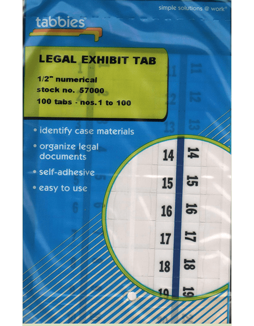 Tabbies 57000 Numbers 1-100