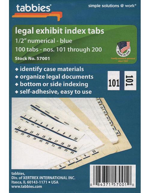 Tabbies 57001 Numbers 101-200
