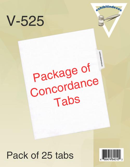 25 Concordance Tabs