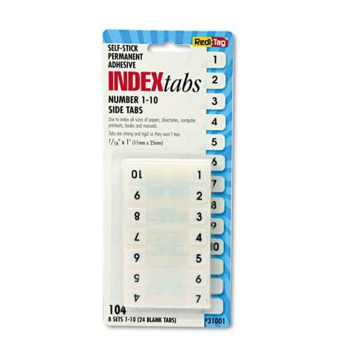 Redi-Tag 31001 Numbers 1-10