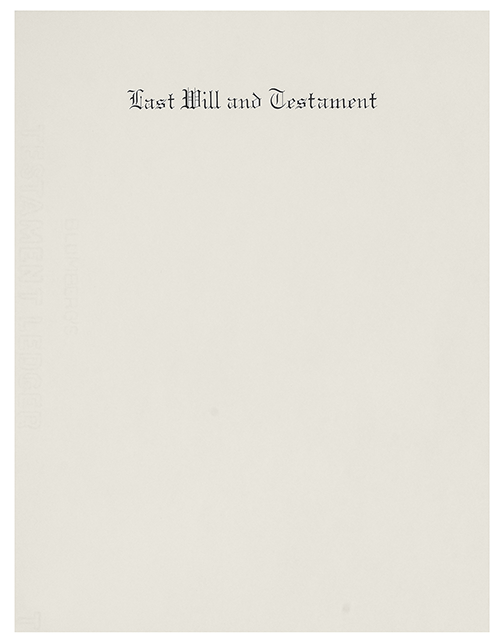Engraved Will Paper 2318 Letter Size