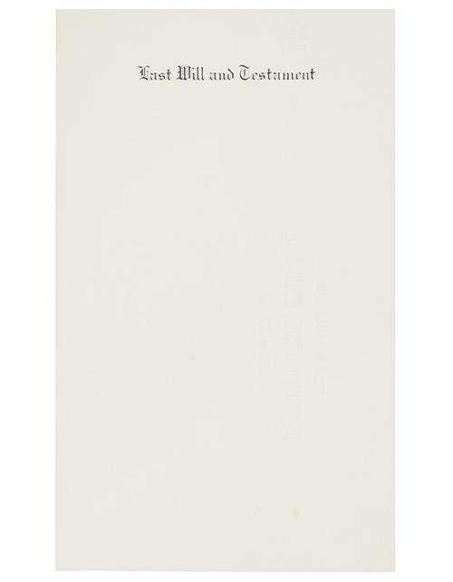8 1/2 X 14 Will Paper