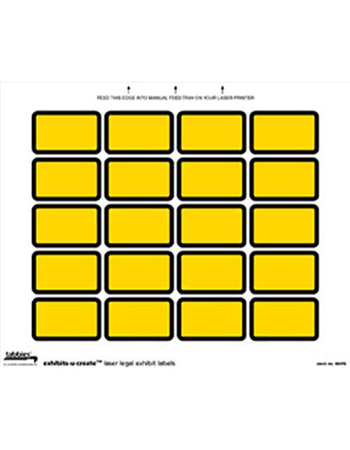 Tabbies 48092 Exhibit Labels Yellow