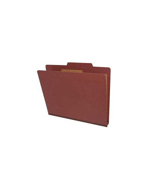 Letter Size Classification Folders 4 Sections Red