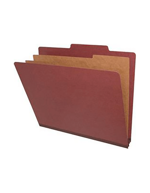 Letter Size Classification Folders 6 Sections Red