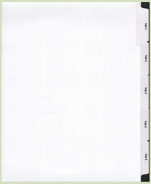 Custom Printed 5 tab index Set