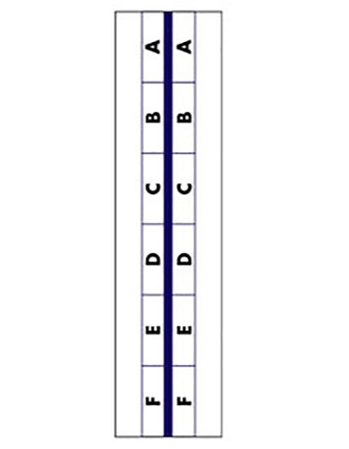 "1"" Blue Edge Stick on A - Z Tabs Tabbies 58302"