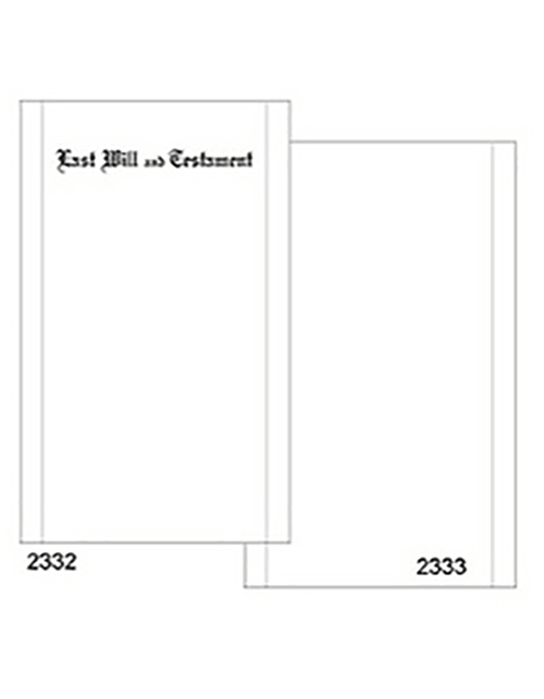Engraved Will Paper 2332 Legal Size With Black Rules