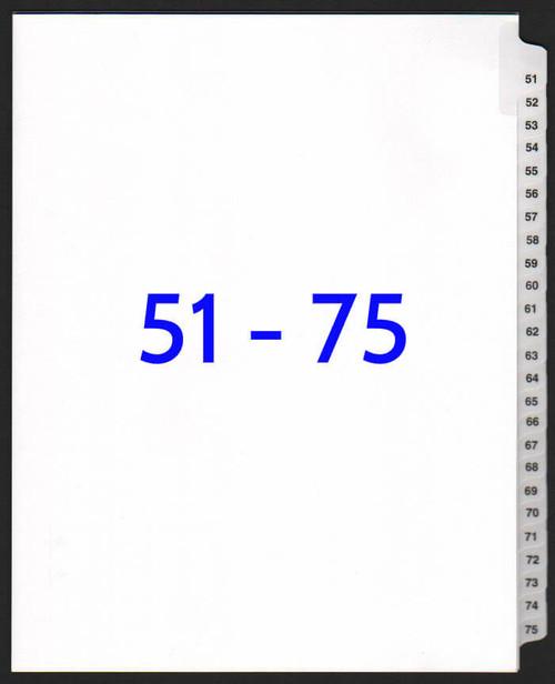 exhibitindexes.com V-SNS-51-75 dividers