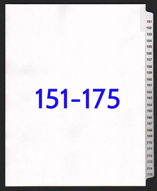 exhibitindexes.com V-SNS-151-175 dividers