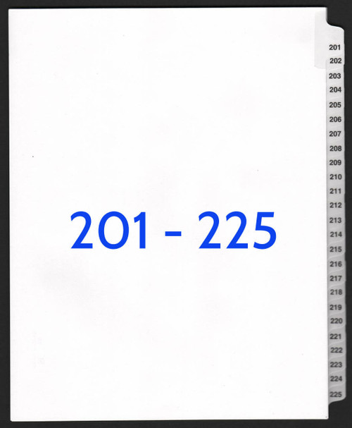 exhibitindexes.com V-SNS-201-225 dividers