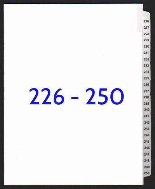 exhibitindexes.com V-SNS-226-250 dividers