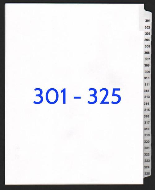 exhibitindexes.com V-SNS-301-325 dividers