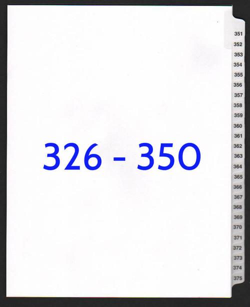 exhibitindexes.com V-SNS-326-350 dividers