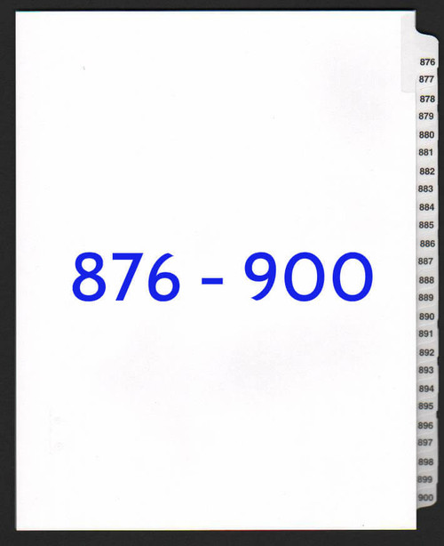 exhibitindexes.com V-SNS-876-900 dividers
