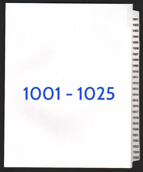 exhibitindexes.com V-SNS-1001-1025 dividers